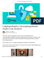 Criptografando e Descriptografando Dados Com NodeJS