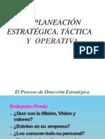 La Planeación Estratégica, Táctica