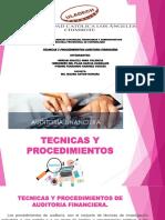Diapositivas Tecnicas y Procedimientos Auditori Financiera