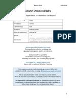 212 Report Sheet Chromatography