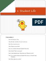 Unit 1 Student Life