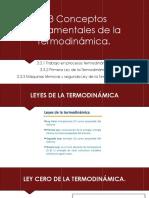 3.3 Conceptos Fundamentales de La Termodinámica.