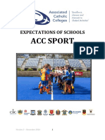 Expectations of Schools in ACC SPORT