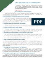 advantages and disadvantages of tech-1.doc