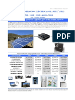 SOLARTEC Catalogo Generacion Eléctrica Para Viviendas Medianas Precios 16-08-2019