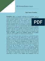 """El Formalismo Ruso y la """"muerte del sujeto""""."""