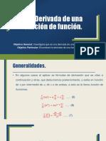 3.5 Derivada de Una Función de Función.