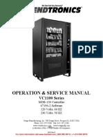 Vc1100man Cold Vending Machine Instruction Manual Seaga Mfg