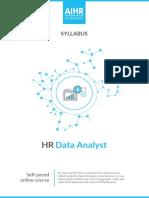 HR Data Analyst Syllabus