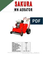 Agricultural Machinery 29 Sakura Lawn Aerator (Vla-50) (2)