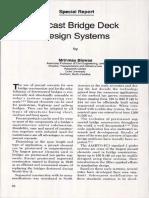 Precast Bridge Deck Design Systems