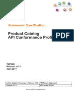 Product Catalog API Conformance Profile