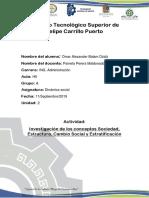 investigacion de sociedad, cambio social, estratificacion, estructura.docx