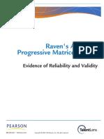 Ravens APM Reliability Validity