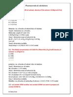 pharmaceuticals calculations
