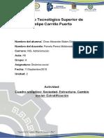 Cuadro Sinoptico de Sociedad, Cambio Social, Estratificacion, Estructura.