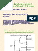 Complemento Unidad Tres. Flujos de Efectivo de La Empresa. FCF