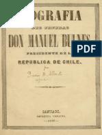 Biografía Del Jeneral Don Manuel Bulnes, Presidente de La Republica de Chile