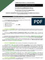 1º PONTO - PRINCÍPIOS BÁSICOS DA ADMINISTRAÇÃO PÚBLICA