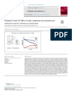 Effect of Acidic Components and Saturation Gas. Colloids and Surfaces a Physicochemical and Engineering Aspects