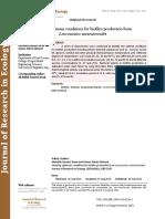Studying optimum conditions for biofilm production from Leuconostoc mesenteroides