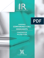 Q2 H1-FY20 Concall Highlights