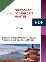 Lecture 1 Inferential Statistics