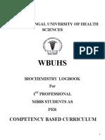Biochemistry Log Book