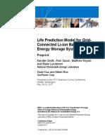 NREL source on battery life prediction model