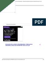 Ecuación de La Recta Propiedades y Preguntas Desarrolladas de Geometría Analítica PDF