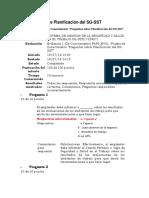 1. Prueba de Conocimiento - Preguntas Sobre Planificación Del SG-SST