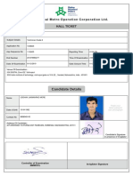 Admit card format