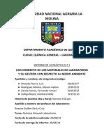 Informe Lab Quimica 1