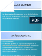 GENERALIDADES ANÁLISIS QUÍMICO