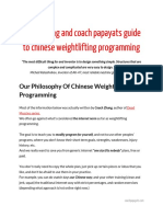 Coach Zhang and Coach Papayats Guide to Chinese Weightlifting Programming