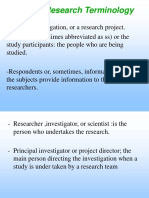 Basic Research Terminology