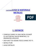 Tehnologii Şi Materiale Metalice