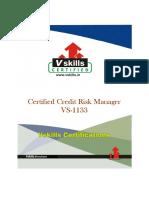 Vs 1133 Certified Credit Risk Manager Brochure