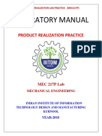 Product Realization Practice manual Updated.pdf