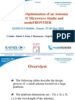 Design and Optimization of an Antenna Using CST Microwave Studio and ModeFRONTIER