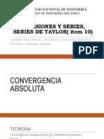 Sucesiones y Series, Series de Taylor(
