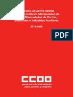 Convenio Artes Gráficas CCOO