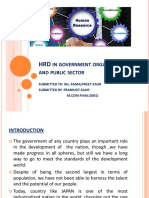 Hrd in Public Sector Ppt