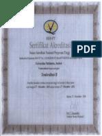 Sertifikat Akreditasi 001021-1