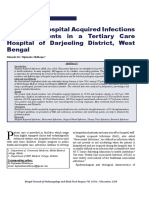A Study on Hospital Acquired Infections