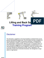 Back and Lifting Safety Training Module 30JAN2018