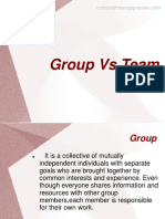 Group vs team