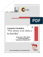 Campaña Preventiva Amor a La Vida y a La Familia