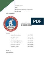 Análisis de Los Artículos de La Ley Orgánica Del Presupuesto, Decreto Número 101-97 Del Congreso de La República