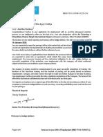 Offer Letter of Miss. Aastha Sonkar
